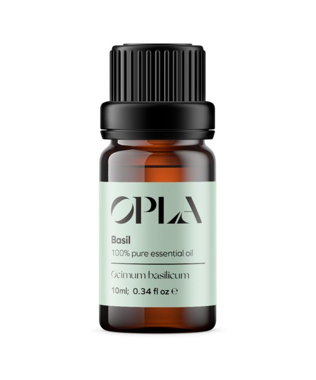 basil pure essential oil organic