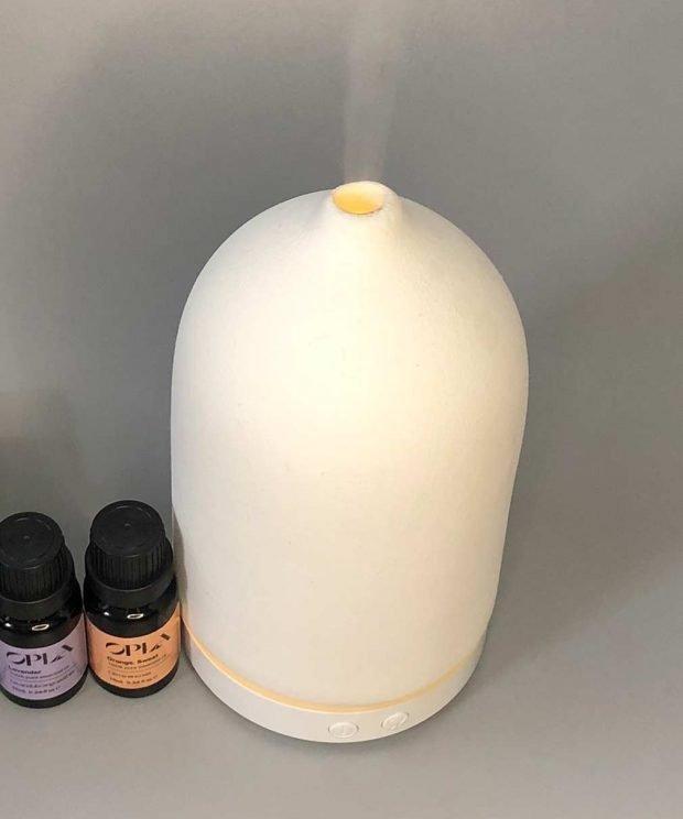white ceramic aromatherapy essential oil diffuser
